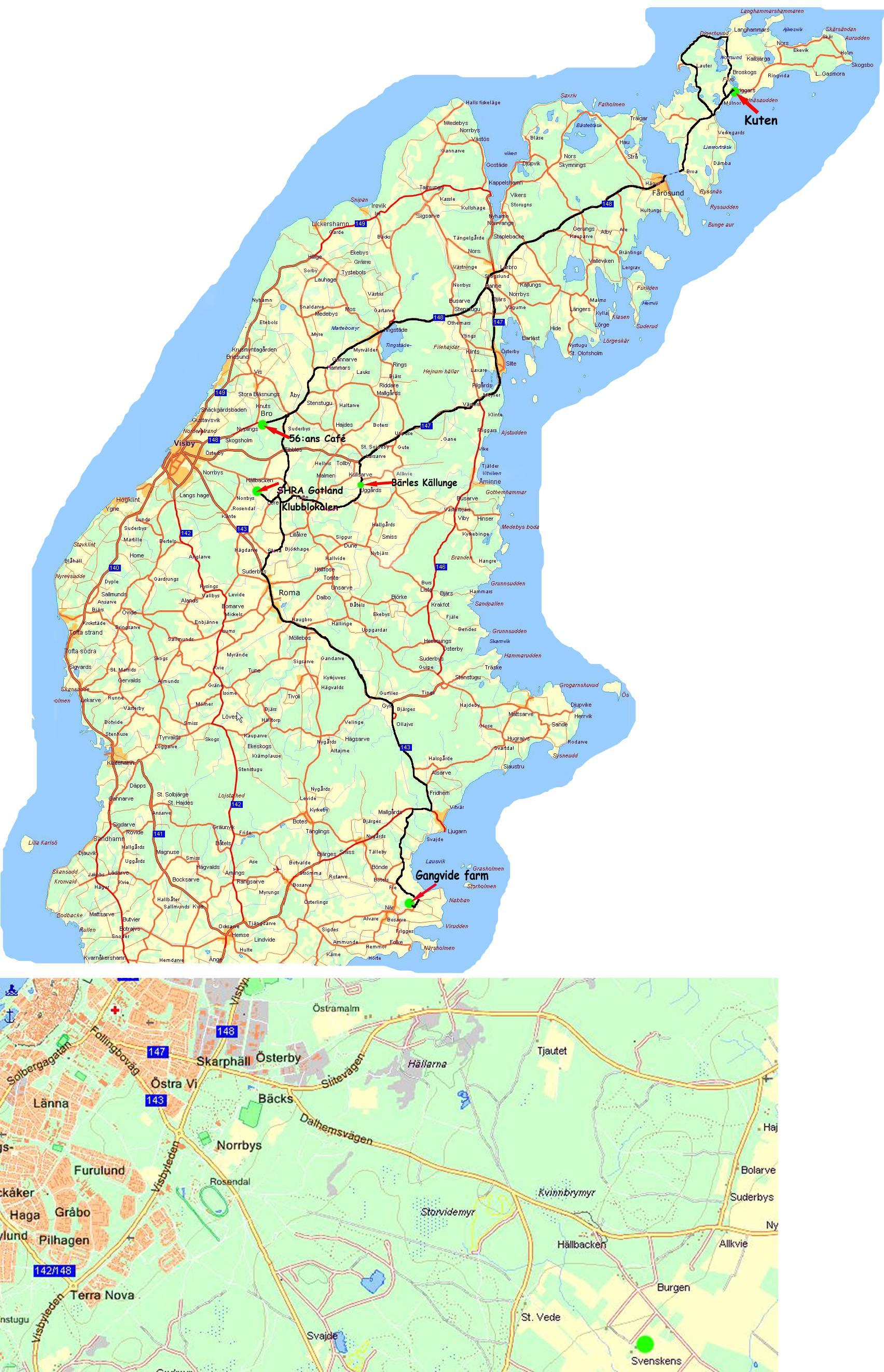 fårö gotland karta Midsummer Meet 2009 Gotland fårö gotland karta